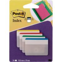 Post-it® Index Strong per archivio - blu, giallo, rosso, verde - 686F-1EU (conf.24)
