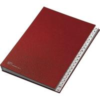 Classificatore alfabetico A-Z Fraschini - rosso - 640-E