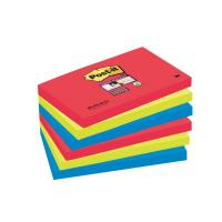 Post-it® Super Sticky colori Bora Bora- 76x127 mm - rosso verde acqua - 655-6SS-JP (conf.6)
