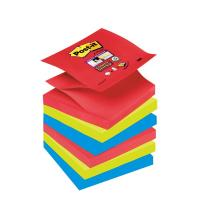 Ricariche Post-it® Z-Notes Super Sticky Post-It  Bora Bora -76x76 mm - assortiti - R330-6SS-JP (conf.6)