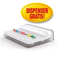 Dispenser Post-it® Index Slim Post-It - argento - index slim dispenser