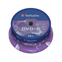 DVD+R Verbatim 4,7 Gb - 16x - Spindle - 43500 (conf.25)