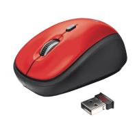 Yvi Mouse Wireless Trust - Rosso - 19522