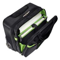 Trolley Carry-On Smart Traveller Leitz Complete  - 20x37x42 cm - Nero/Verde - 60590095