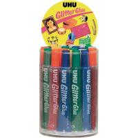 Glitter Glue UHU - Original - assortiti - 20 ml - D1553 (conf.24)