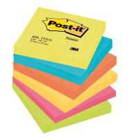 Post-it® Note Energy  - tinta unita - 100 - 76x76 mm - neon arcobaleno - 654-TFEN (conf.6) (Conf. 6) (Conf. 6)