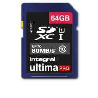 Flash memory card Integral - 64 GB - INSDX64G10-80U1