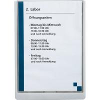 Targhe Click Sign Durable - A4 - bianco - 4867-02