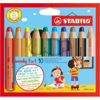 Pastelli Woody 3 in 1 Stabilo - 880/10 (conf.10)
