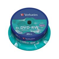 DVD Verbatim - DVD-RW - 4,7 Gb - 4x - Spindle - 43639 (conf.25)