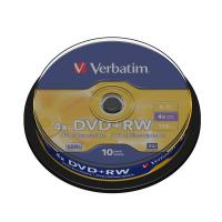 DVD Verbatim - DVD+RW - 4,7 Gb - 4x - Spindle - 43488 (conf.10)