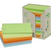 Post-it® Note in carta riciclata giallo - assortiti pastello - 127x76 mm - 655-1RPT (conf.16)