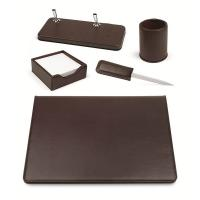Set scrivania in similpelle Niji - 50x35 cm - marrone - 119- 119-M/60269