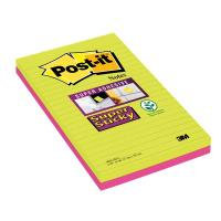 Post-it® Super Sticky Ultracolor 'to do list' - 125x200 mm - lime e rosa neon - 5845-4SSUC (conf.4) (Conf. 4) (Conf. 4)
